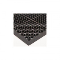 "Winco RBM-35K Floor Mat, 3' x 5' x 1/2"" thick, anti-fatigue, beveled edges, rubber, black"