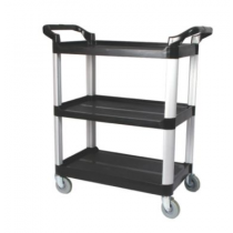 "3 Tier 33.25 X 17 X 37.5"" Cart Black"