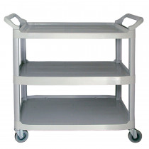 "31 X 16 X 37""/ 3-Tier / Light Gray / 300 Lb"
