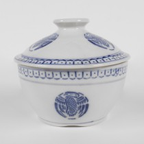 Porcelain Blue and White Pattern Soup Bow W/ Lid 8""