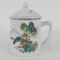 White Tea Cup W/ View 3.5""