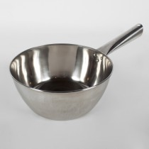 """Stainless Steel 8"""" Water Ladel Pot W/ Handle"""