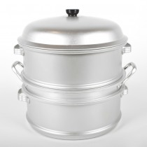 "Aluminum 14"" Steamer Set 4 Pieces"