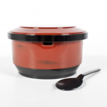 "6"" Red Rice Container For Two"