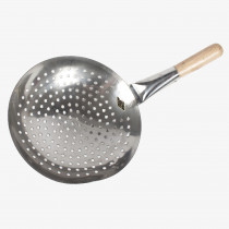 Stainless Steel Strainer W/ Wooden Handle 10""